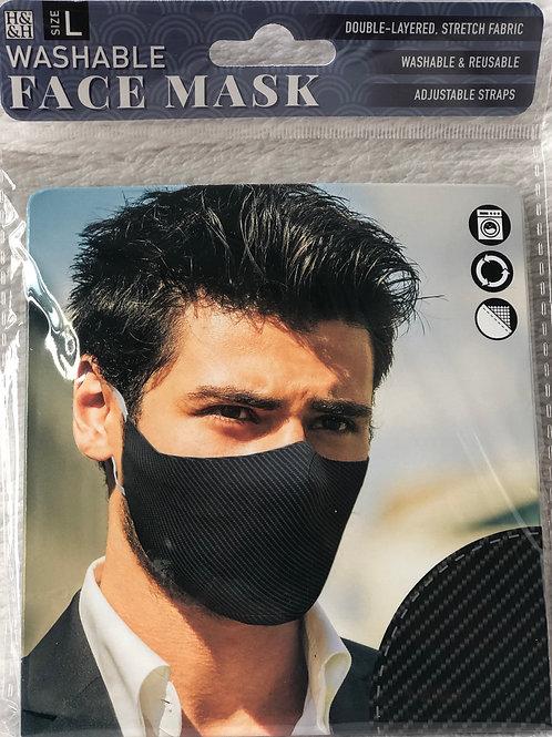 Carbon Fibre Face Mask (L) - 0017