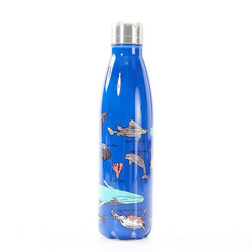 Blue Sea Creatures Thermal Bottle