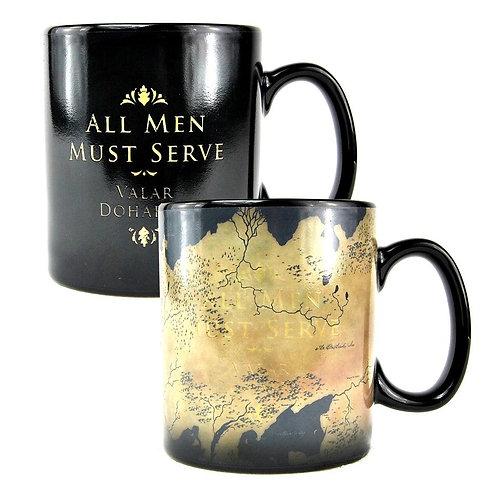 Game of Thrones Heat Changing Mug - Westeros Map