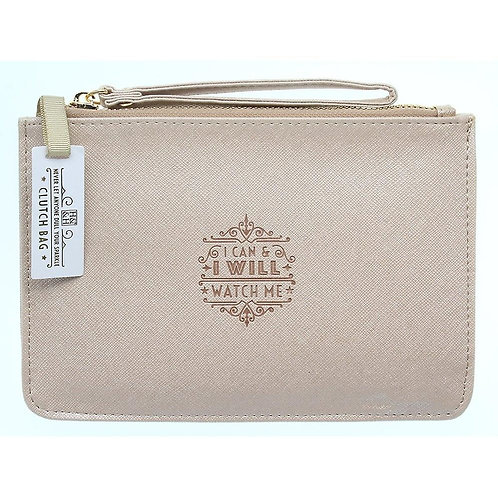 Personalised Clutch Bag - I Can and I Will