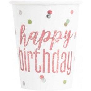 Rose Gold Birthday Cups