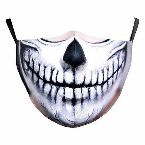 Zombie Skull Reusable Face Mask