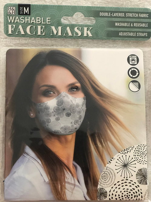 Black Circle Face Mask (M) - 0005