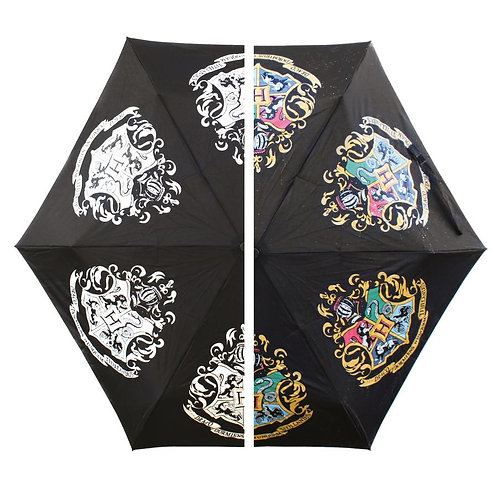 Harry Potter Colour Changing Umbrella - Hogwarts Crest