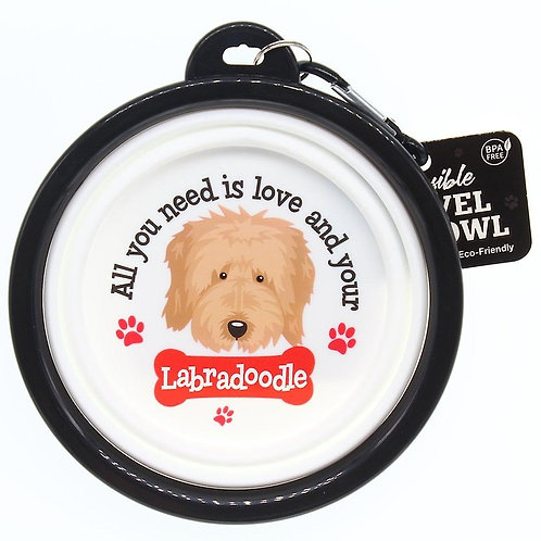 Wags & Whiskers Travel Pet Bowl - Labradoodle