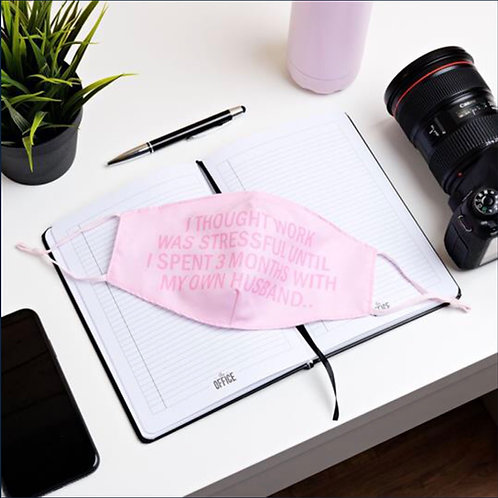 The Office Reusable Pink Face Mask - Husband