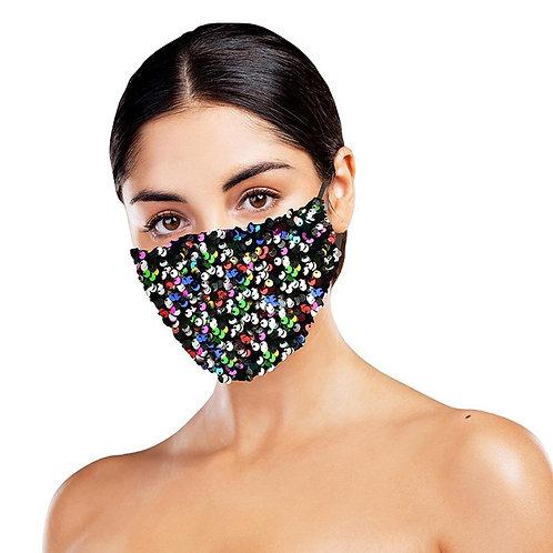 Multicoloured Sequin Face Mask