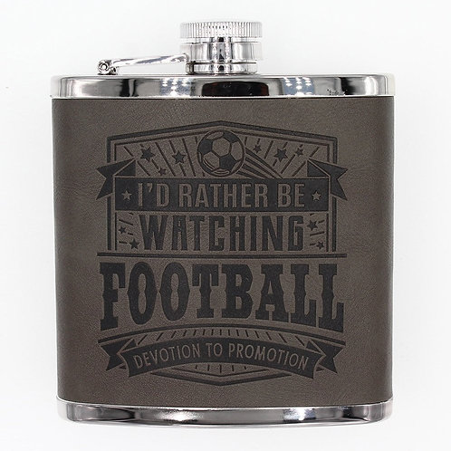 Personalised Hip Flask - Football