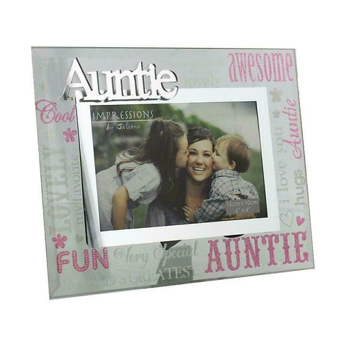 Glass Photo Frame - Auntie