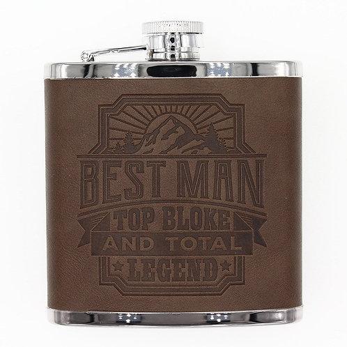Personalised Hip Flask - Best Man