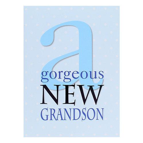 KJ-176 New Baby Grandson Card