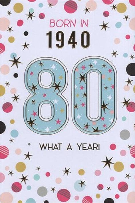 IC&G 80th Female Year You Were Born