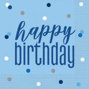 Blue Birthday Napkins