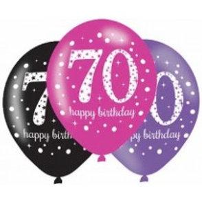Age 70 Latex Balloons