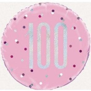 100th Birthday Foil Balloon