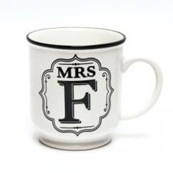 Alphabet Mugs - Mrs F