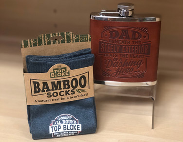 Bamboo Socks and Hip Flasks