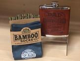 Bamboo Socks and Hip Flasks