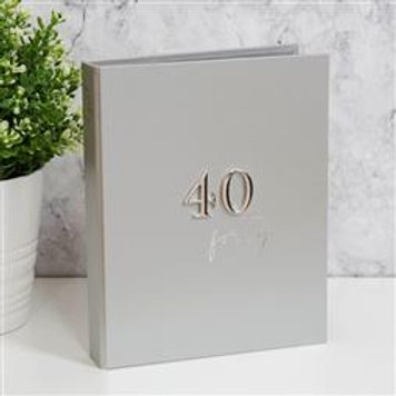 Milestone Birthday Photo Album - 40