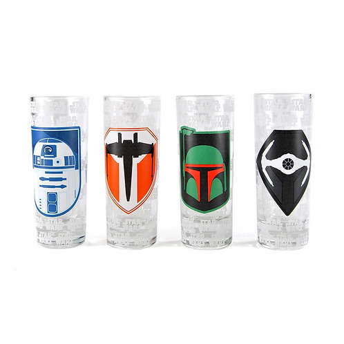 Star Wars Set of 4 Mini Glasses - Icons