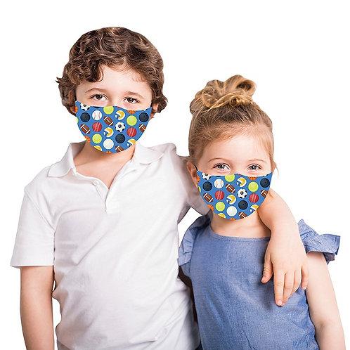 Kids Blue Sports Face Mask