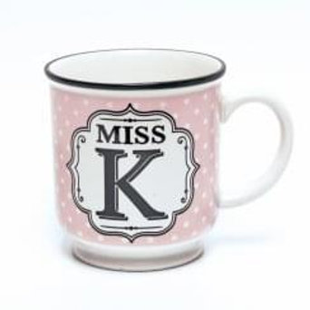 Alphabet Mugs - Miss K