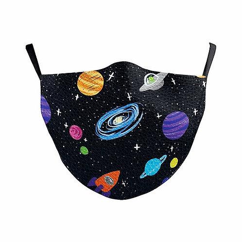 Children Black Hole Universe Reusable Face Mask