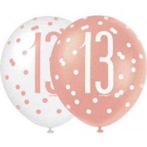 Age 13 Latex Balloons