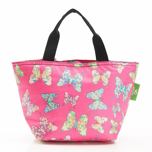Fuchsia Butterfly Lunch Bag