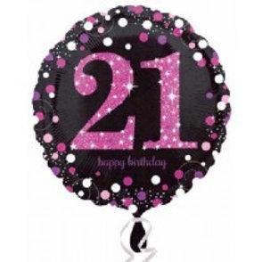 21st Birthday Foil Balloon