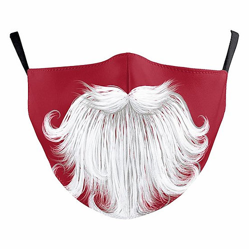 Santa Beard Reusable Face Mask