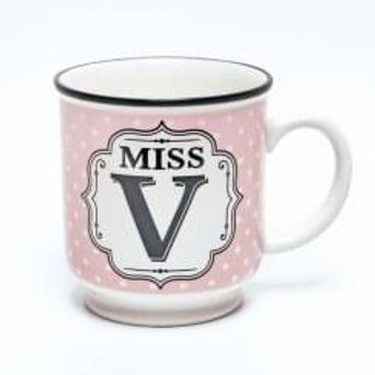 Alphabet Mugs - Mrs V