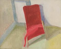 Le fauteuil rouge en coin