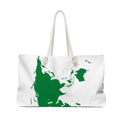 World Map Weekender Bag