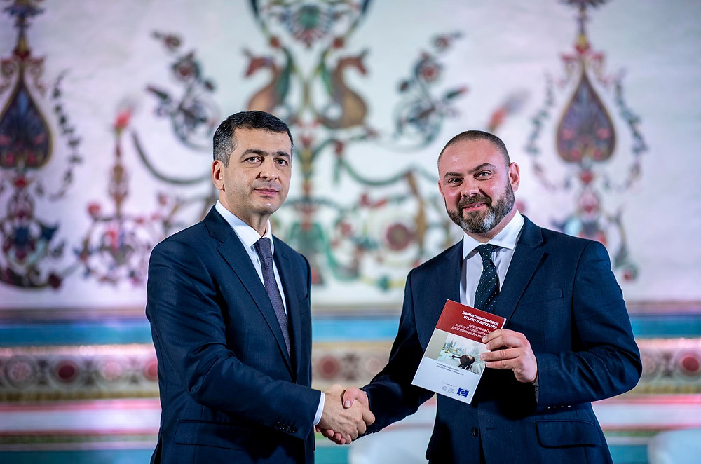 Minister Owen Bonnici with Mr Ramin Gurbanov, President of the CEPEJ (Council of Europe)
