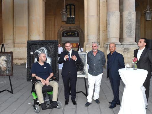 Esebizzjoni tal-arti b'riżq ALS Malta