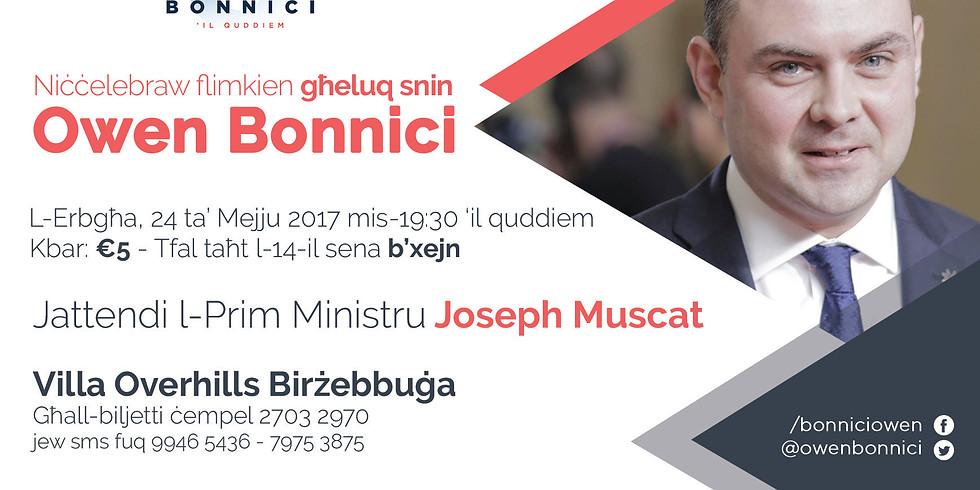 Niċċelebraw flimkien għeluq snin Owen Bonnici