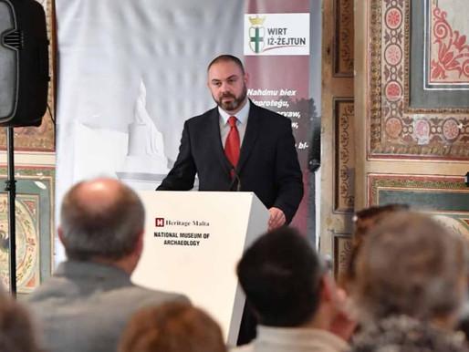 Il-Ministru Bonnici jħabbar l-introduzzjoni ta' emendi għall-Att dwar il-Patrimonju Kulturali waqt i