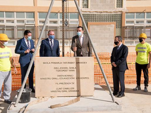 Tqegħid tal-ewwel ġebla fl-Iskola Primarja fir-Rabat, Għawdex, b'investiment ta' €10 miljun