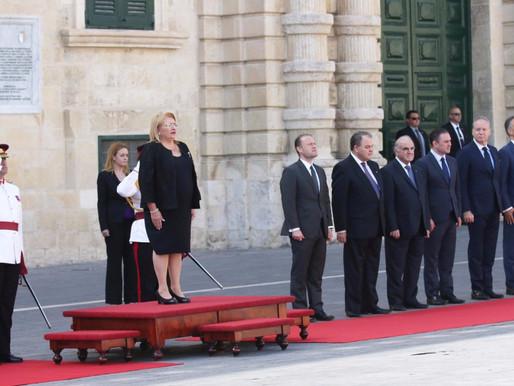 Owen Bonnici jattendi l-merħba mill-President u l-Prim Ministru lill-President tal-Kroazja, flimkien