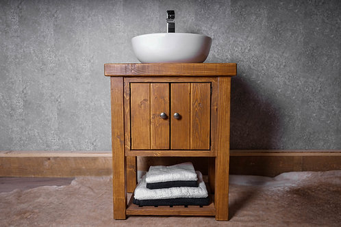 Cottage Farmhouse Wooden Vanity Unit Hand-Made To Order