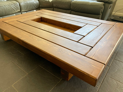 Handmade Chunky Wooden Rail-Way Sleeper Coffee Table