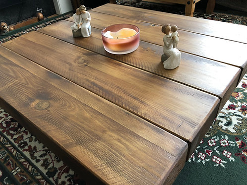 Handmade Wooden Chunky Square Coffee Table