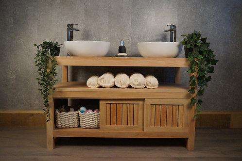 Artistry Oak Hardwood Vanity Unit - Hand-Crafted