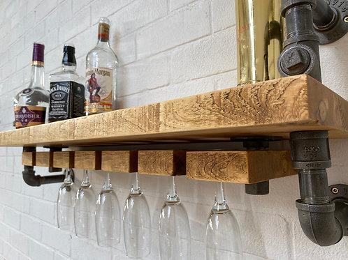 Custom Hand-Made Bar Shelving Storage Unit - Industrial Shelf