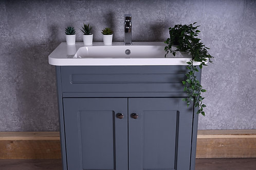 Modern Day Shaker-Style Vanity Unit With Recessed Basin - Free-Standing