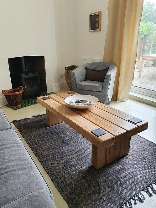 FAO Sue - Custom Hand-Made Oak Sleeper Coffee Table With Shelf