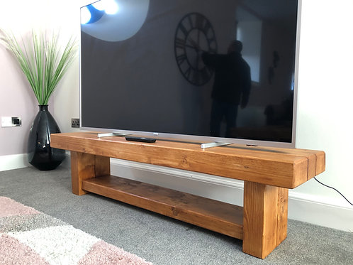 Hand-Crafted Rail-Way Sleeper TV Unit - 5 Available Colours