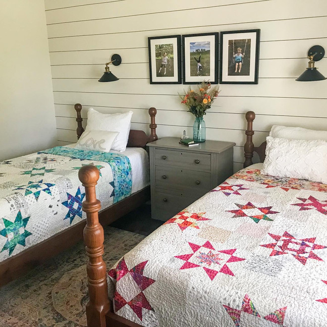 Two Little Miss Sawtooth Quilts