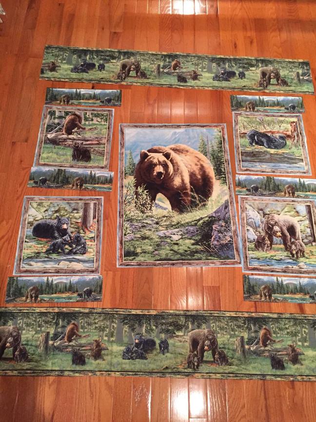 Bear Quilt/Jeans Skirt
